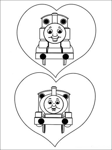 Coloring Book Train