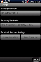 Screenshot of The Birthday Assistant