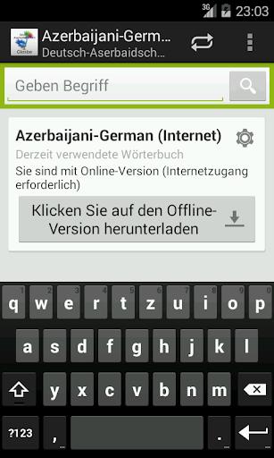 Deutsch-Aserbaidschanisch