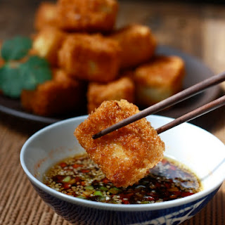 Fried Tofu with Sesame-Soy Dipping Sauce