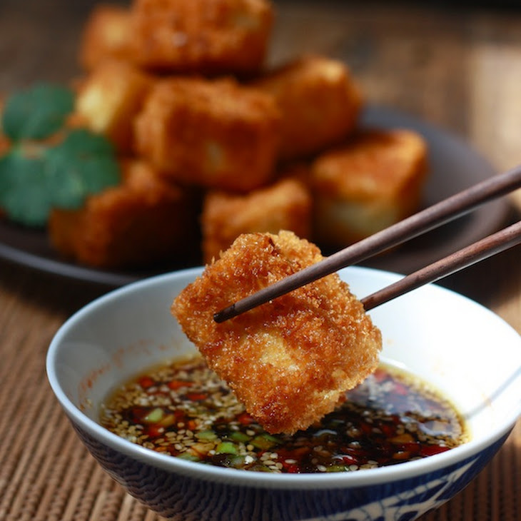 Fried Tofu with Sesame-Soy Dipping Sauce Recipe