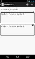 Screenshot of Curriculum Manager / Resume
