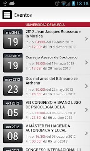Universidad de Murcia App - screenshot thumbnail