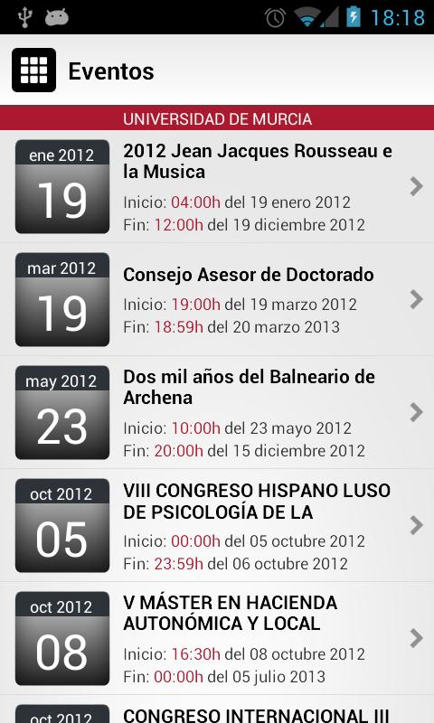 Universidad de Murcia App - screenshot