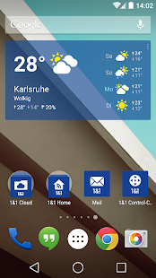 1&1 Wetter Widget- screenshot thumbnail