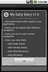 My Daily Diary screenshot 1