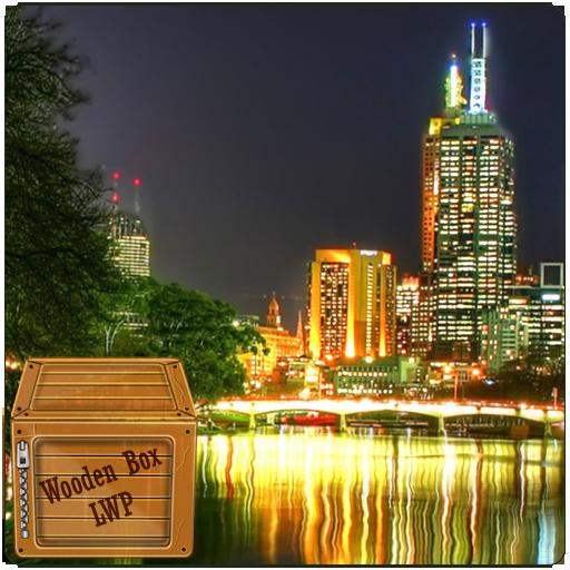 城市夜景河LWP 個人化 LOGO-玩APPs