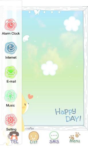 玩免費娛樂APP|下載CUKI Themes HappyDay Cat app不用錢|硬是要APP