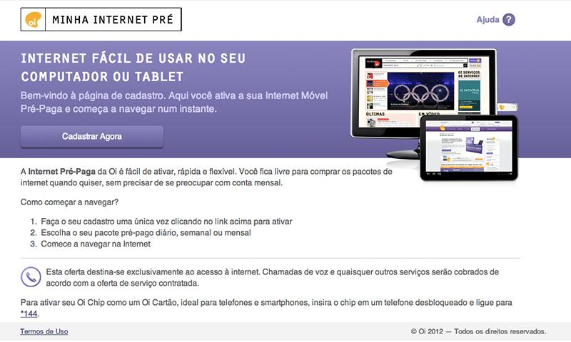 Oi Internet Pré - screenshot