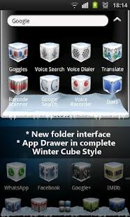 Winter Cube 4 GO Launcher Ex- screenshot thumbnail