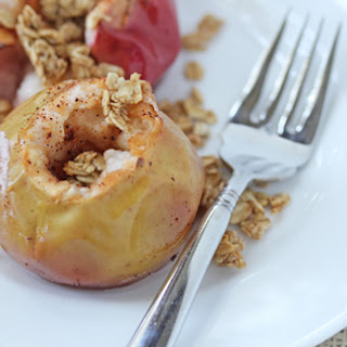 Baked Apples with Maple and Granola