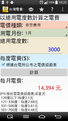 台灣水電費多少錢