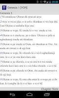 Screenshot of Yoruba Bible Text