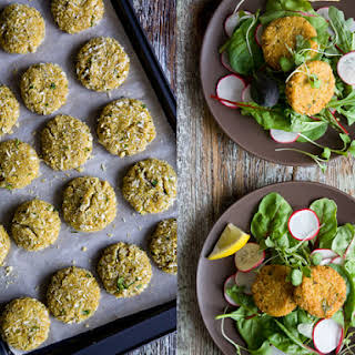 Curried Amaranth Patties.