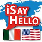iSayHello Italian - English US icon