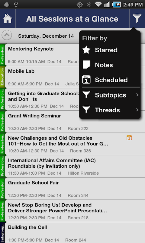 ASCB 2013 Annual Meeting - screenshot