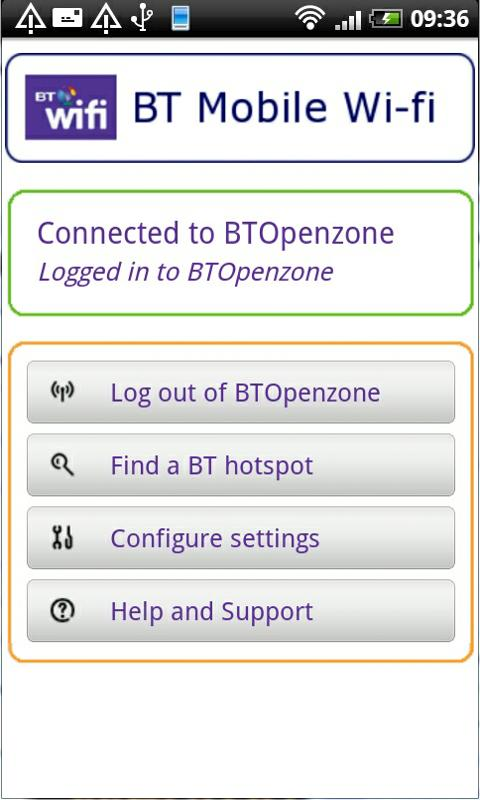 BT Mobile Wi-fi - screenshot