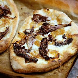 Smoked Mozzarella Pizza with Radicchio and Onion Jam