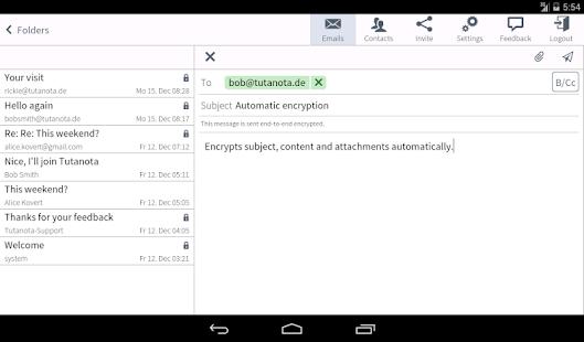 Tutanota: simply secure emails Screenshot 12