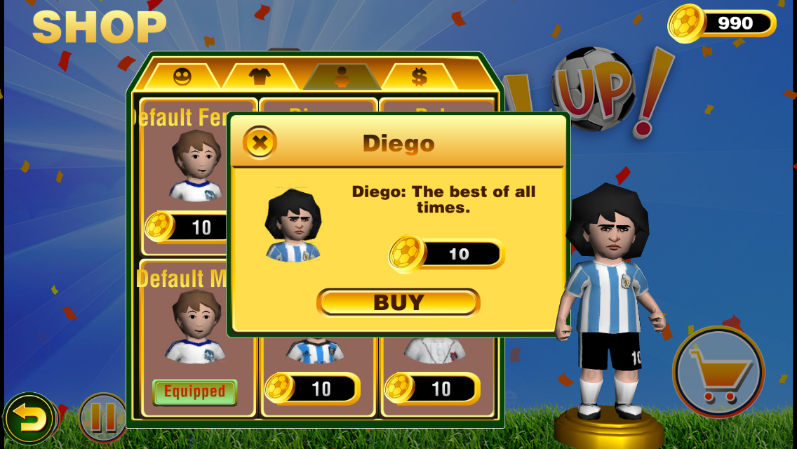 Kick Up! Soccer Juggle Tricks- screenshot