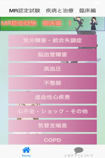 MR認定試験(疾病と治療)【臨床編1】