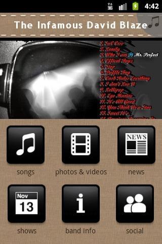 玩免費音樂APP 下載The Infamous David Blaze app不用錢 硬是要APP