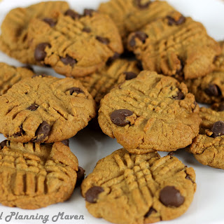 Chewy Peanut Butter Choco-Chip Cookies.