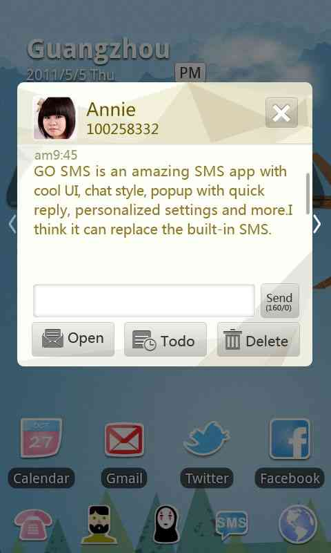 GO SMS Pro Cornner theme screenshot #2