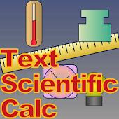 Text Scientific Calc