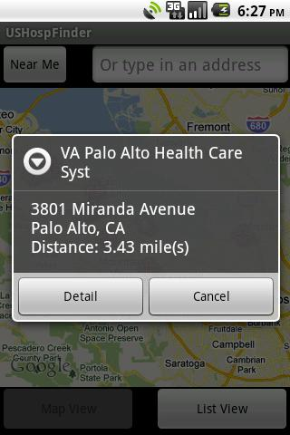 US Hospital Finder Android App - screenshot