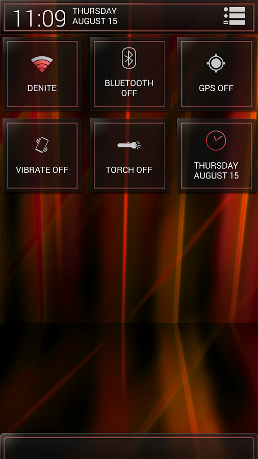Laser Red CM11/AOKP Theme - screenshot