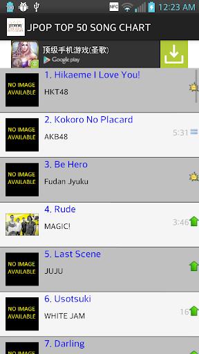 JPOP トップ100ソングチャート