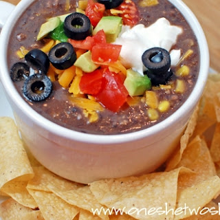 Black Bean Soup ~ 10 Minute Delicious Dinner!