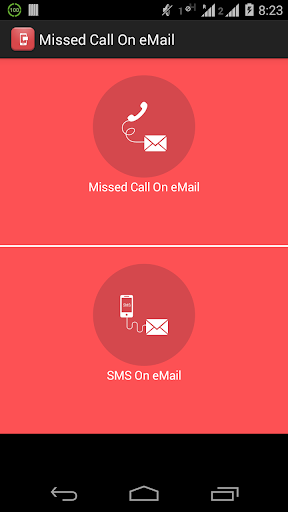 Missed call SMS on eMail