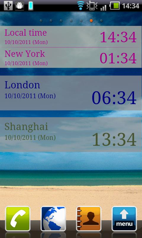 The World Clock Free - screenshot