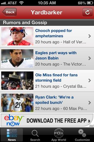 Yardbarker Sports and Rumors - screenshot