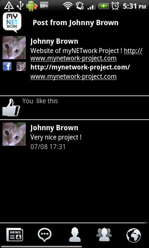 myNETwork (Facebook, Twitter) - screenshot