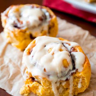 Pumpkin Cinnamon Rolls.