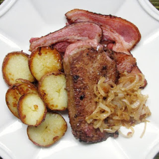Calves Liver with Onions, Bacon and Potatoes