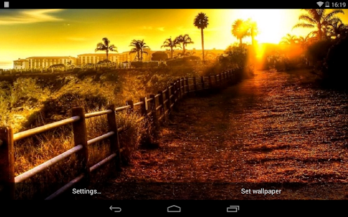 夕陽美景動態桌布