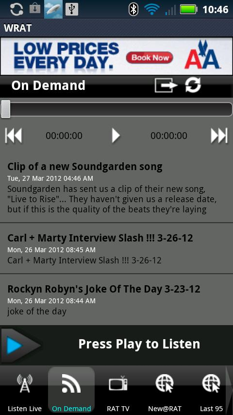 WRAT 95.9 The Rat Player - screenshot