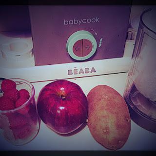 Raspberry, Apple And Potato Puree