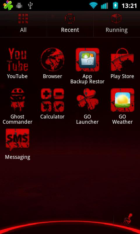 Mass Effect Go Launcher Theme - screenshot
