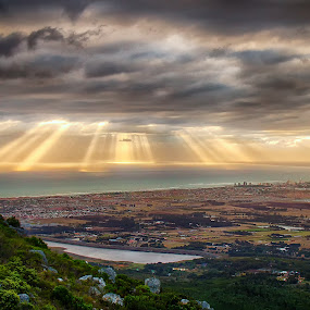 Cape Spread by David Morris - Landscapes Cloud Formations ( false bay, south africa, cape town )