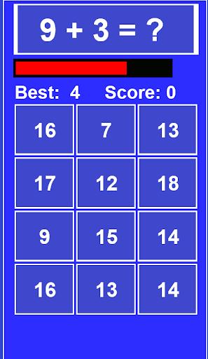Fast Math Game