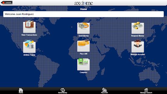 Axxiome - mWallet - screenshot thumbnail