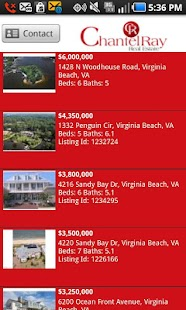 Chantel Ray Real Estate Search - screenshot thumbnail