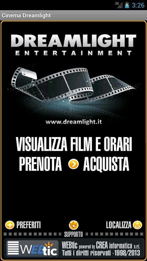Webtic Dreamlight Cinema - screenshot