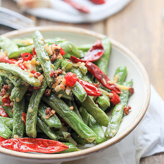 Dry-fried Green Beans-less oil version