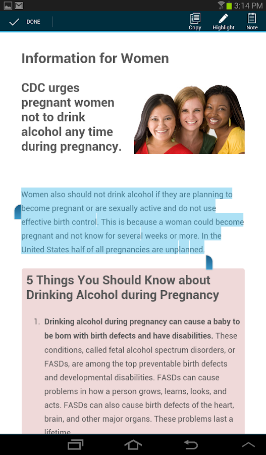 CDC FASD- screenshot